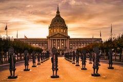 Настроение вечера городской ратуши Сан-Франциско стоковые изображения