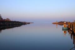 Настроение вечера на ем малая гавань настолько славная Стоковые Фотографии RF