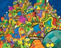 Настроение вопроса шаржа - Star City - счастливое и смешное Стоковое фото RF