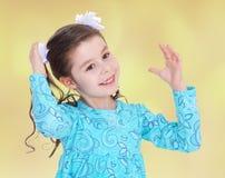 Настроение лета маленькая девочка Стоковая Фотография RF