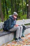 Настроение осени в парке осени Стоковое Фото
