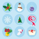 Настроение праздника картины символов зимы рождества Стоковые Изображения