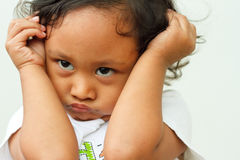 настроение ребенка капризное Стоковое Изображение