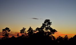 Наступление ночи, природный парк Pilancones Стоковое Изображение