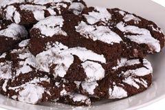 Насыпь печений crinkle шоколада Стоковые Фотографии RF