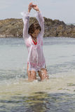 наслаждаться водой Стоковые Фотографии RF