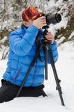 наслаждающся фотографом 5 природ старым фотографирует принимать год Стоковые Фотографии RF