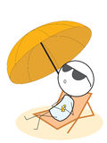 Насладитесь летом Стоковое фото RF