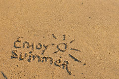 насладитесь летом Стоковые Изображения RF