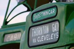 Наследие Блэкпула trams шторки назначения Стоковое Изображение