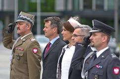 Наследный принц Frederik Дании и его жена, Pri стоковое изображение
