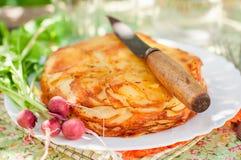 Наслоенная картошка печет стоковое изображение rf