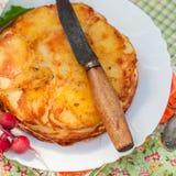 Наслоенная картошка печет стоковое фото rf