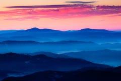Наслоенные холмы, Mala Fatra Стоковые Фотографии RF