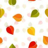 наслоенный архив абстрактной расцветки предпосылки цветастой легкий выходит вектор манипуляции Фон листвы осени Безшовная текстур иллюстрация вектора