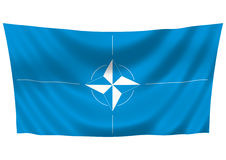 НАТО флага иллюстрация вектора