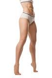 Натренированное женское тело стоковое изображение rf