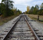 Натренируйте соединение следа в ADK на большой станции лосей Стоковые Фотографии RF