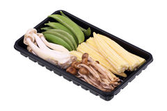 Натуральные продукты Свежие овощи с мозолью, фасоли, грибы Стоковые Изображения RF