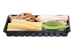 Натуральные продукты Свежие овощи с мозолью, фасоли, грибы Стоковое Изображение