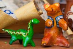 Натюрморта медведя игрушки глины дети керамического красивые милые Стоковые Изображения RF