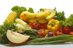 Натюрморт ба апельсина сливы перца петрушки дыни овощей Стоковое фото RF