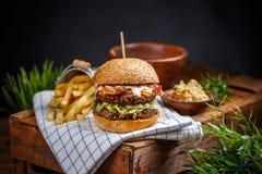 Натюрморт гамбургера Стоковые Изображения RF