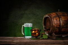 Натюрморт дня ` s St. Patrick стоковое изображение rf