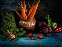 Натюрморт еды свежего сбора борща ингридиентов овощей здоровый Стоковые Изображения