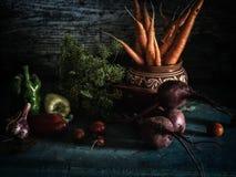 Натюрморт еды свежего сбора борща ингридиентов овощей здоровый Стоковые Фото