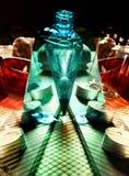 Натюрморт курорта с мылом, солью для принятия ванны, сливк, полотенцем, свечами Стоковая Фотография