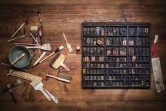 Натюрморт печати с литерностью стоковые фото