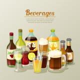 Натюрморт пить и напитков спирта иллюстрация штока