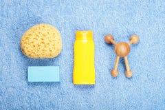 Натюрморт положения квартиры здоровья заботы тела Стоковые Фото