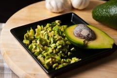 Натюрморт плодоовощ авокадоа отрезал для еды Стоковые Изображения