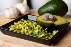 Натюрморт плодоовощ авокадоа отрезал для еды Стоковые Изображения RF