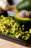Натюрморт плодоовощ авокадоа отрезал для еды Стоковое фото RF