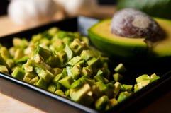 Натюрморт плодоовощ авокадоа отрезал для еды Стоковое Изображение RF