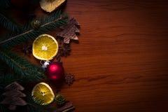 Натюрморт рождества с плодоовощ и специями Стоковые Фотографии RF