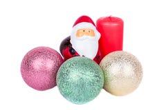 Натюрморт рождества на белой предпосылке Стоковое фото RF