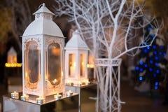 Натюрморт рождества с рождественской елкой Стоковое фото RF