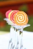 Натюрморт: студень плодоовощ на стеклах Стоковые Фотографии RF