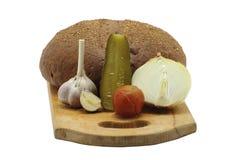 Натюрморт с овощами и беконом Стоковые Фото