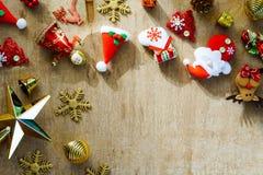 Натюрморт с Рождеством Христовым и счастливой предпосылки Нового Года conc Стоковая Фотография
