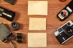 Натюрморт с старым оборудованием фотографии Стоковое фото RF