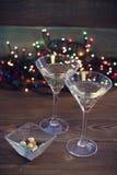 Натюрморт с 2 стеклами шампанского Стоковое Изображение RF