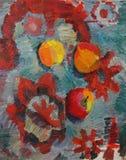 Натюрморт с яблоками Стоковые Фото