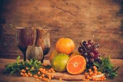 Натюрморт с tangerines Стоковые Изображения