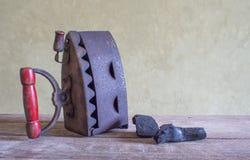 Натюрморт, утюг антиквариата Стоковое Изображение RF