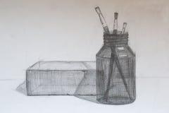Натюрморт, чертеж карандаша Стоковые Изображения